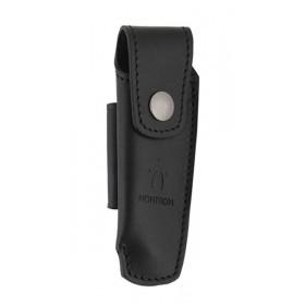 Couteaux Nontron en ébène N° 25 avec étui en cuir noir, manche sabot, lame inox 9 cm