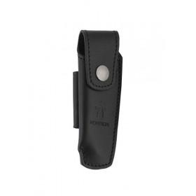 Couteaux Nontron en ébène N° 22 avec étui en cuir noir, manche boule, lame inox 8 cm