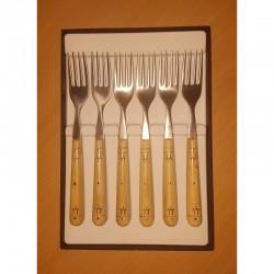 Pack éco Nontron - ensemble complet de 24 couverts de table - couteaux lame Yatagan (coffret de fourchettes)