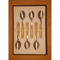 Pack éco Nontron - ensemble complet de 24 couverts de table - couteaux lame Yatagan (coffret de cuillères à café)
