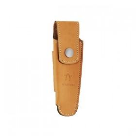 Couteaux Nontron en buis N° 25 avec étui en cuir Fauve, manche sabot, lame inox 9 cm (étui en cuir)