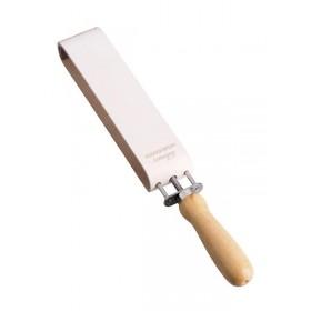 Affuteur au cuir à tendeur à vis Dovo - Solingen pour couteaux ou rasoir (photo du cuir)