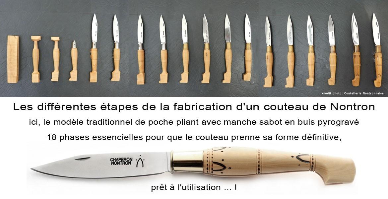 Couteaux de Nontron - les 18 différentes étapes de la fabrication d'un couteau de Nontron ...